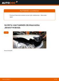 Kuinka vaihtaa Moniurahihna E 220 CDI 2.2 (211.006) Mercedes W211 -autoon