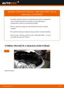 Jak provést výměnu: Brzdovy kotouc na E 220 CDI 2.2 (211.006) Mercedes W211