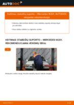 Pakeisti Stabdžių apkaba MERCEDES-BENZ 190: instrukcija