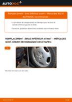 Comment changer : bras inférieur avant sur Mercedes W201 - Guide de remplacement