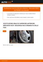 Sostituzione Braccio oscillante sospensione ruota MERCEDES-BENZ 190: pdf gratuito
