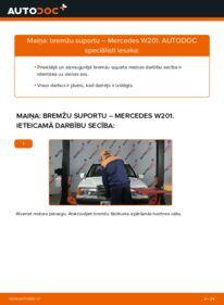 Kā veikt nomaiņu: MERCEDES-BENZ 190 Bremžu suports