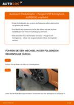 Wie Stoßdämpfer Satz Gasdruck beim PEUGEOT 207 (WA_, WC_) wechseln - Handbuch online