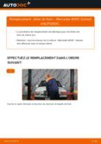 Comment changer : étrier de frein arrière sur Mercedes W201 - Guide de remplacement
