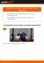 Montering Bremseklave MERCEDES-BENZ 190 (W201) - steg-for-steg manualer