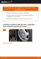 Poradnik online na temat tego, jak wymienić Drążek wspornik stabilizator w MERCEDES-BENZ 190 (W201)