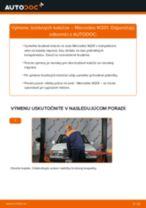 Naučte sa, ako vyriešiť problémy s predné a zadné Brzdový kotouč MERCEDES-BENZ