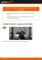 Vyměnit Hlavni brzdovy valec MERCEDES-BENZ 190: dílenská příručka