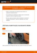 Como substituir Amortecedores traseiro e dianteiro PEUGEOT 207 (WA_, WC_) - manual online