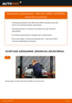 MERCEDES-BENZ tagumine ja eesmine Piduriketas vahetamine DIY - online käsiraamatute pdf