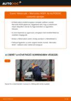 MERCEDES-BENZ 190 (W201) Féktárcsák beszerelése - lépésről-lépésre útmutató