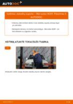 Kaip pakeisti Mercedes W201 stabdžių suporto: galas - keitimo instrukcija