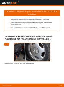 Wie der Wechsel durchführt wird: Koppelstange E 2.0 (201.024) Mercedes W201 tauschen