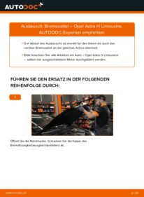 Wie der Wechsel durchführt wird: Bremssattel 1.6 (L69) Opel Astra H Limousine tauschen