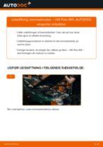 Trin-for-trin PDF-tutorial om skift af VW POLO (6N1) Bremseklodser