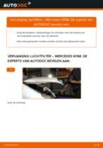 PDF handleiding voor vervanging: Luchtfilter MERCEDES-BENZ A-Klasse (W168)