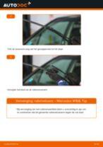 PDF handleiding voor vervanging: Ruitenwisserbladen MERCEDES-BENZ A-Klasse (W168) achter en vóór