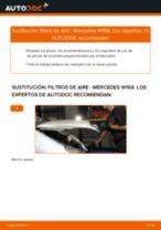 Reemplazar Elemento filtro de aire MERCEDES-BENZ A-CLASS: pdf gratis
