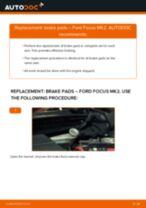 Replacing Brake pad set disc brake FORD FOCUS: free pdf