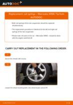 DIY MERCEDES-BENZ change Coil springs front left right - online manual pdf