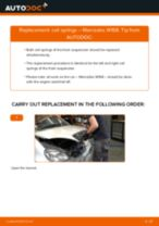 How to replace and adjust Suspension springs MERCEDES-BENZ A-CLASS: pdf tutorial