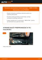 Poradnik krok po kroku w formacie PDF na temat tego, jak wymienić Amortyzator w BMW X3 (E83)