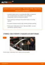 MERCEDES-BENZ Brzdový kotouč zadné a predné vymeniť vlastnými rukami - online návody pdf