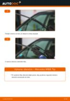 Ako vymeniť predné stierače na Mercedes W168 – návod na výmenu