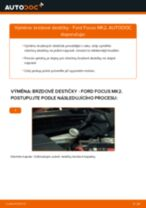 Jak vyměnit zadní brzdové destičky na Ford Focus MK2 – návod k výměně