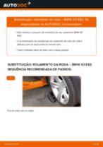 Como mudar rolamento da roda da parte dianteira em BMW X3 E83 - guia de substituição