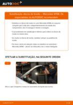 Como mudar e ajustar Discos de freio MERCEDES-BENZ A-CLASS: tutorial pdf