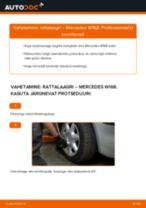 PDF asendamise juhend: Rattalaager MERCEDES-BENZ A-klass (W168) tagumine ja eesmine