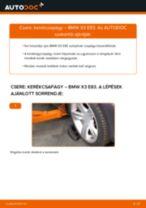 Elülső kerékcsapágy-csere BMW X3 E83 gépkocsin – Útmutató