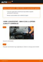 Levegőszűrő-csere BMW X3 E83 gépkocsin – Útmutató