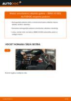 Kā nomainīt: aizmugures amortizatoru atbalsta gultņi BMW X3 E83 - nomaiņas ceļvedis