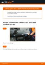 Kā nomainīt: gaisa filtru BMW X3 E83 - nomaiņas ceļvedis