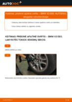 Kaip pakeisti ir sureguliuoti Vikšro Valdymo Svirtis BMW X3: pdf pamokomis
