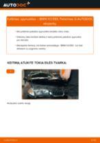 Kaip pakeisti BMW X3 E83 spyruoklės: priekis - keitimo instrukcija