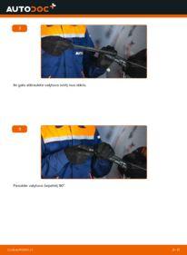 Kaip atlikti keitimą: A 140 1.4 (168.031, 168.131) Mercedes W168 Valytuvo gumelė