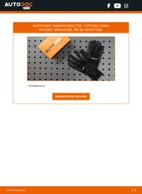 Wie der Wechsel durchführt wird: Innenraumfilter 2.0 HDi Citroen Xsara Picasso tauschen
