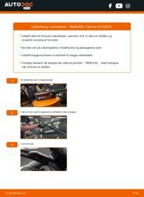 Hvordan man udfører udskiftning af: Viskerblade på 530d 3.0 BMW E60
