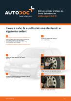 Cómo cambiar el disco de freno delantero en Volkswagen Golf III