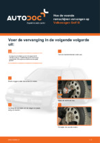 Hoe de voorste remschijven vervangen op Volkswagen Golf III