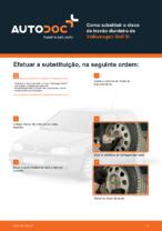Como substituir o disco de travão dianteiro de Volkswagen Golf III