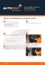 Como substituir o disco de travão dianteiro de Volkswagen Polo IV