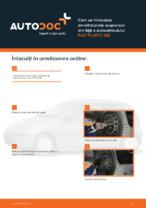 Cum se înlocuiesc amortizoarele suspensiei din față a autovehiculului FIAT PUNTO 188