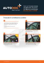 Cum se înlocuiesc lamele ștergătoarelor de parbriz din față ale automobilului Mercedes-Benz A W168