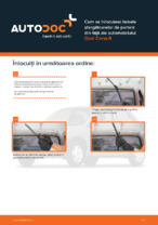 Cum se înlocuiesc lamele ștergătoarelor de parbriz din față ale automobilului Opel Corsa B