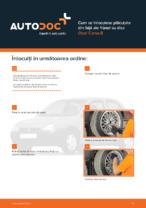 Cum se înlocuiesc plăcuțele din față ale frânei cu disc Opel Corsa B