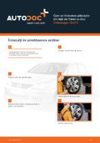 Cum se înlocuiesc plăcuțele din față ale frânei cu disc Volkswagen Golf V